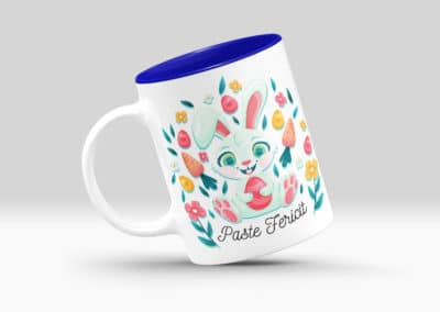 Cani Personalizate cu Interior Colorat Albastru Inchis Paste-Europaper Brasov - Centru de printare