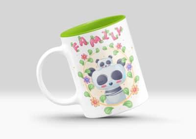 Cani Personalizate cu Interior Colorat Verde Deschis Familie-Europaper Brasov - Centru de printare