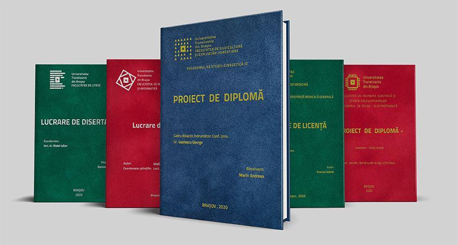 Coperti Licenta Diploma Masterat Disertatie Doctoarat - Europaper Brasov Centru Copiere Printare