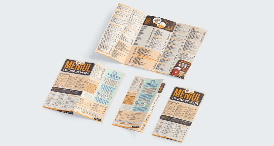 Print Meniu Restaurant Bar Pizzerie, Localuri - Europaper Brasov Centru Copiere Printare