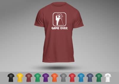 Tricou Personalizat Funny Cuplu - Game Over - Europaper Brasov