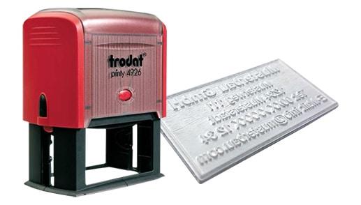 Amprenta Stampila Trodat 4926 -Europaper Brasov Centru Print