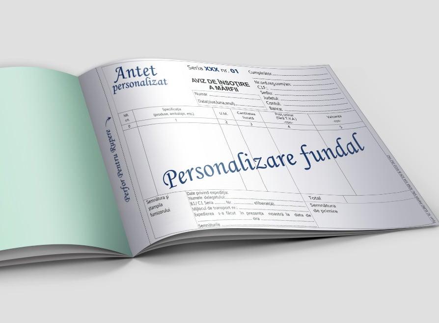Aviz de insotire a marfii personalizat - Facturi Personalizate Europaper Brasov Centru Print