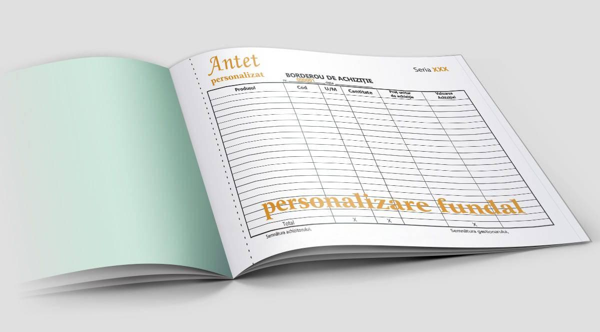 Borderou de achizitii personalizat  - Tipizate personalizate Brasov - Europaper Brasov Centru Print