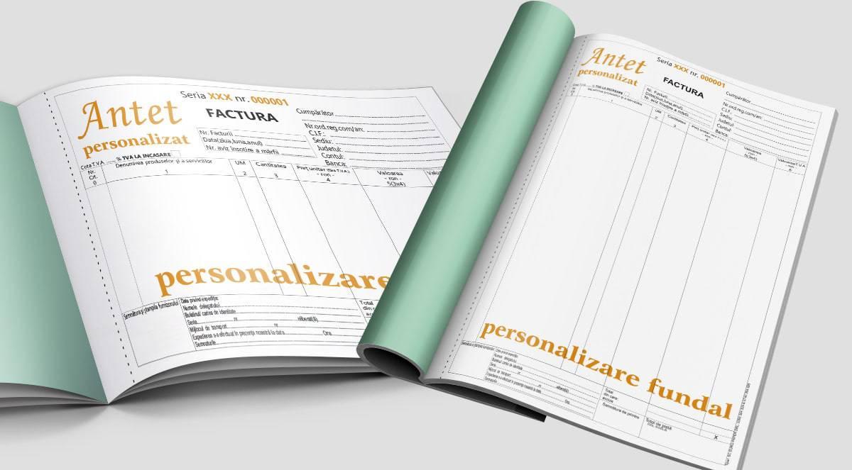 Facturi cu TVA personalizate A4 A5 A6 - Tipizate personalizate Brasov - Europaper Brasov Centru Print