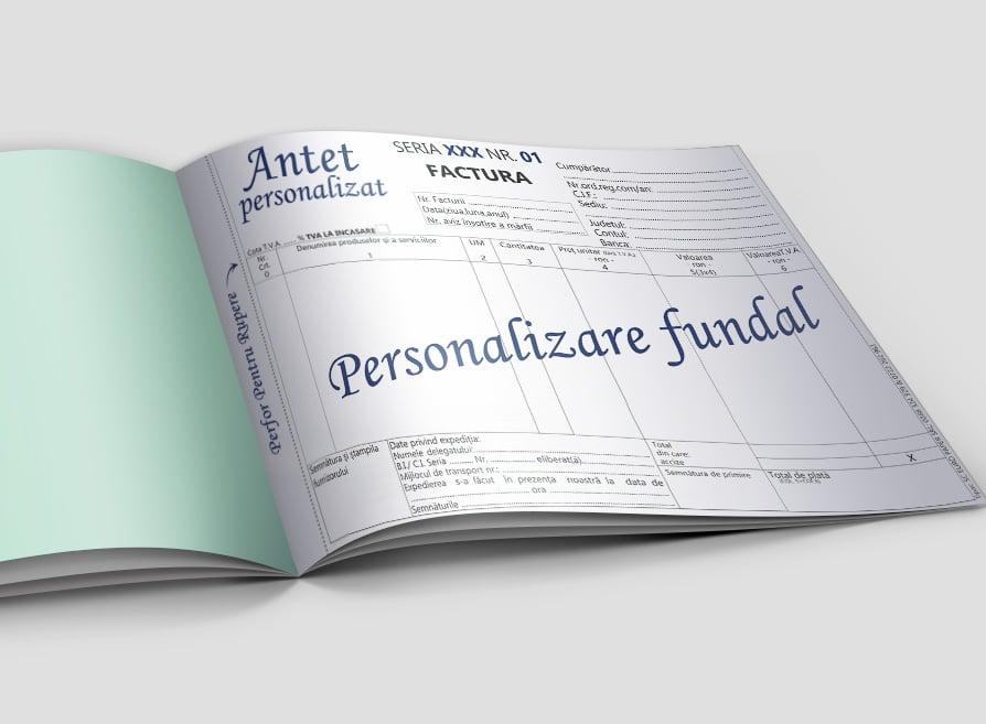 Facturi cu chitanta personalizate - Facturi Personalizate Europaper Brasov Centru Print