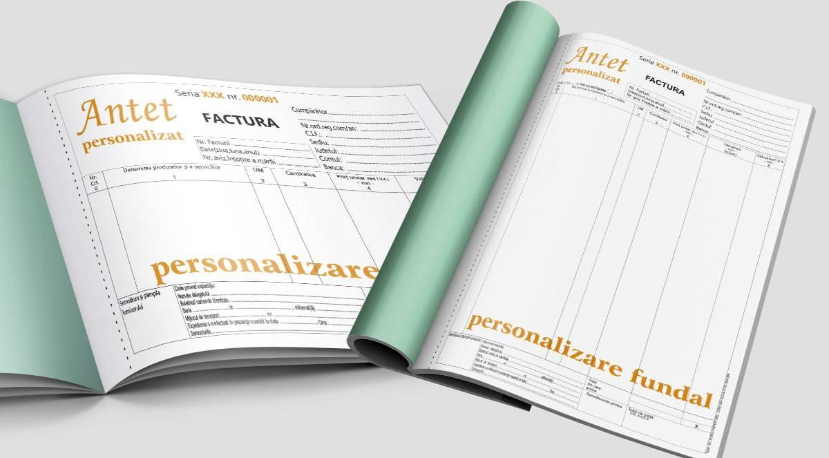 Facturi fara TVA personalizate A4 A5 A6 - Tipizate personalizate Brasov - Europaper Brasov Centru Print