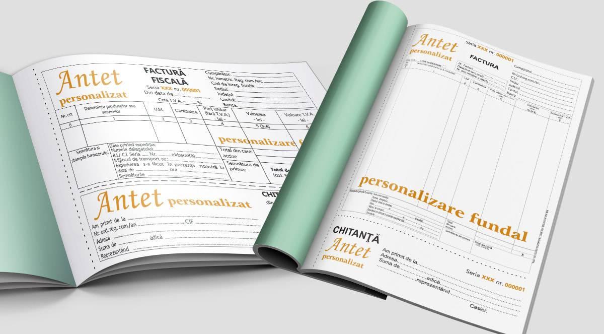 Facturier fara TVA cu chitanta personalizat A4 A5  - Tipizate personalizate Brasov - Europaper Brasov Centru Print