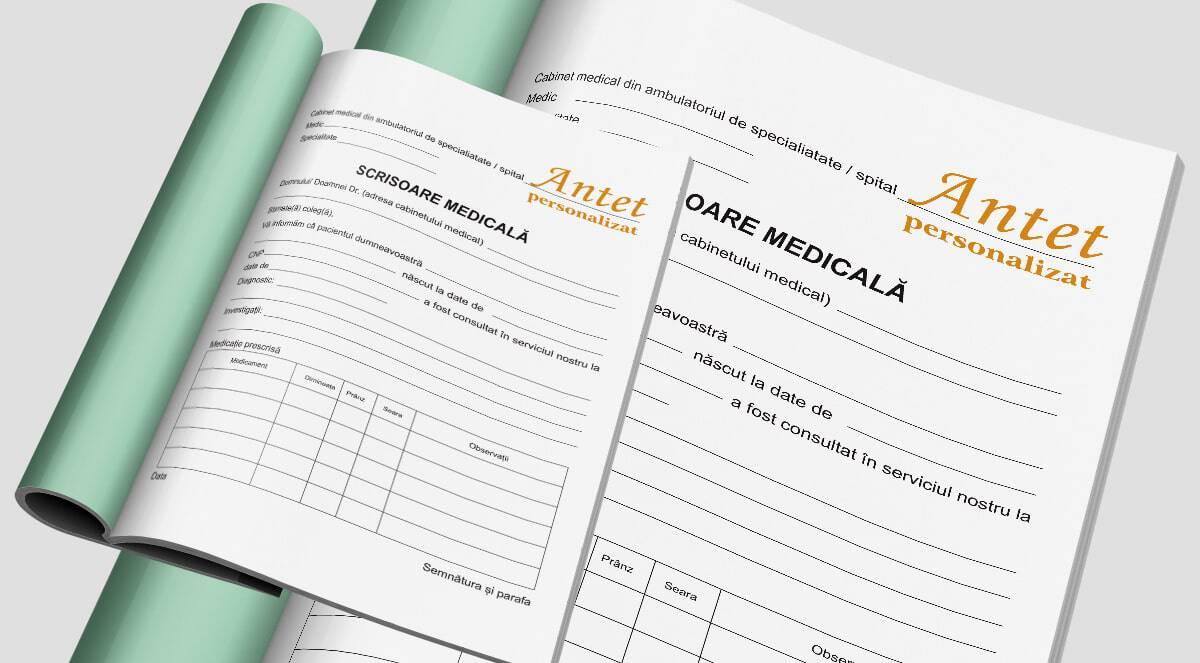 Scrisoare medicala personalizata - Tipizate personalizate Brasov - Europaper Brasov Centru Print