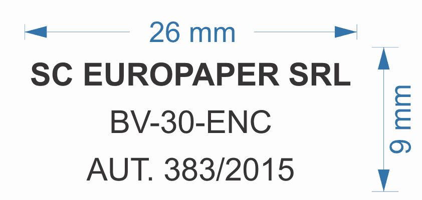 Model 6 Stampile Dreptunghiulare firme personalizate -Europaper Brasov