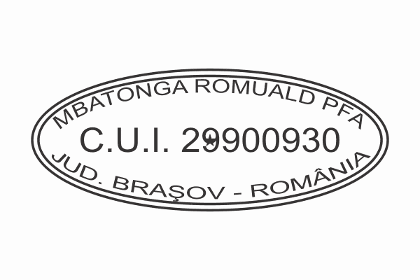 Model 2 Stampile Ovale firme personalizate -Europaper Brasov