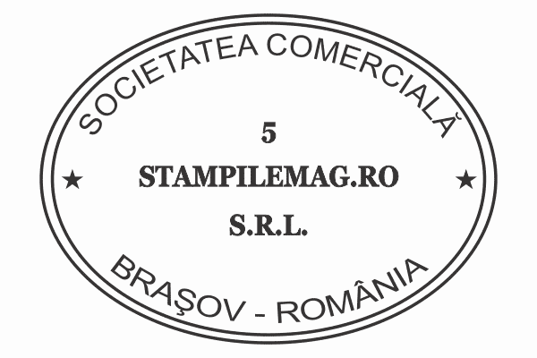Model 4 Stampile Ovale firme personalizate -Europaper Brasov