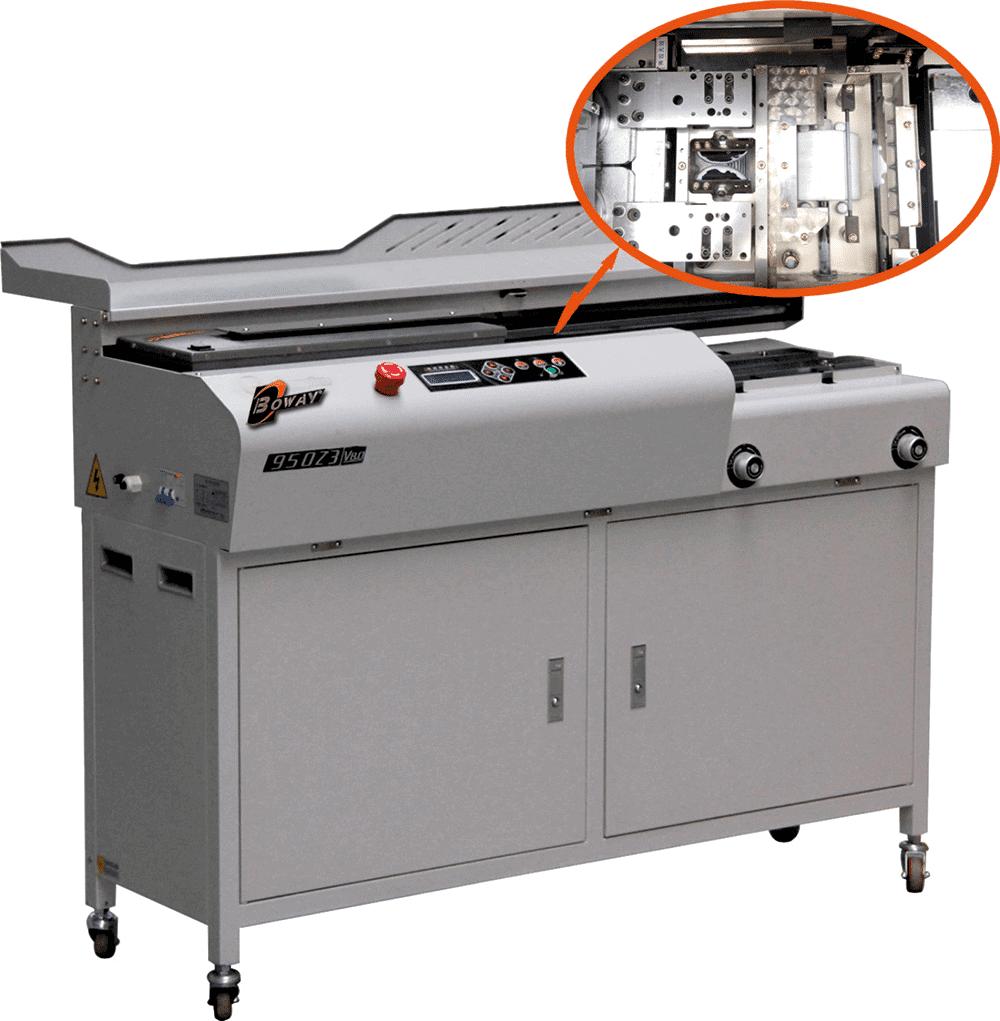 Masina brosat BOWAY BW950Z3 - Masina de brosat semiautomată cu termoclei - Europaper Brasov - Utilaje Finisare Print