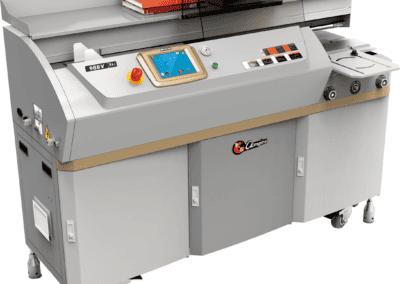 Masina brosat semiautomata BOWAYBW988V - Masina de brosat semiautomata cu termoclei - Europaper Brasov - Utilaje Finisare Print