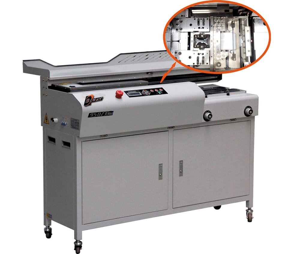 Masina brosat BOWAY BW950Z3 - Masina de brosat semiautomată cu termoclei - Europaper Brasov - Utilaje brosare carte