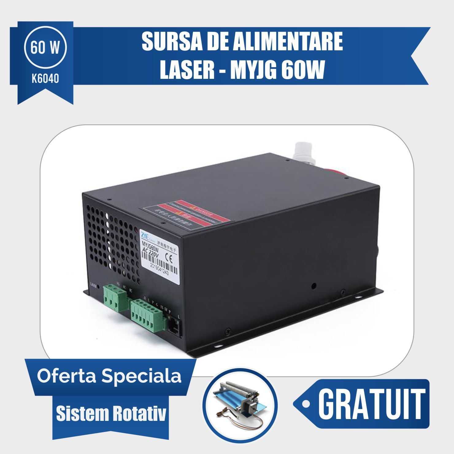 Gravator laser K3020 – 40w - Europaper Brasov - Utilaje Finisare Print