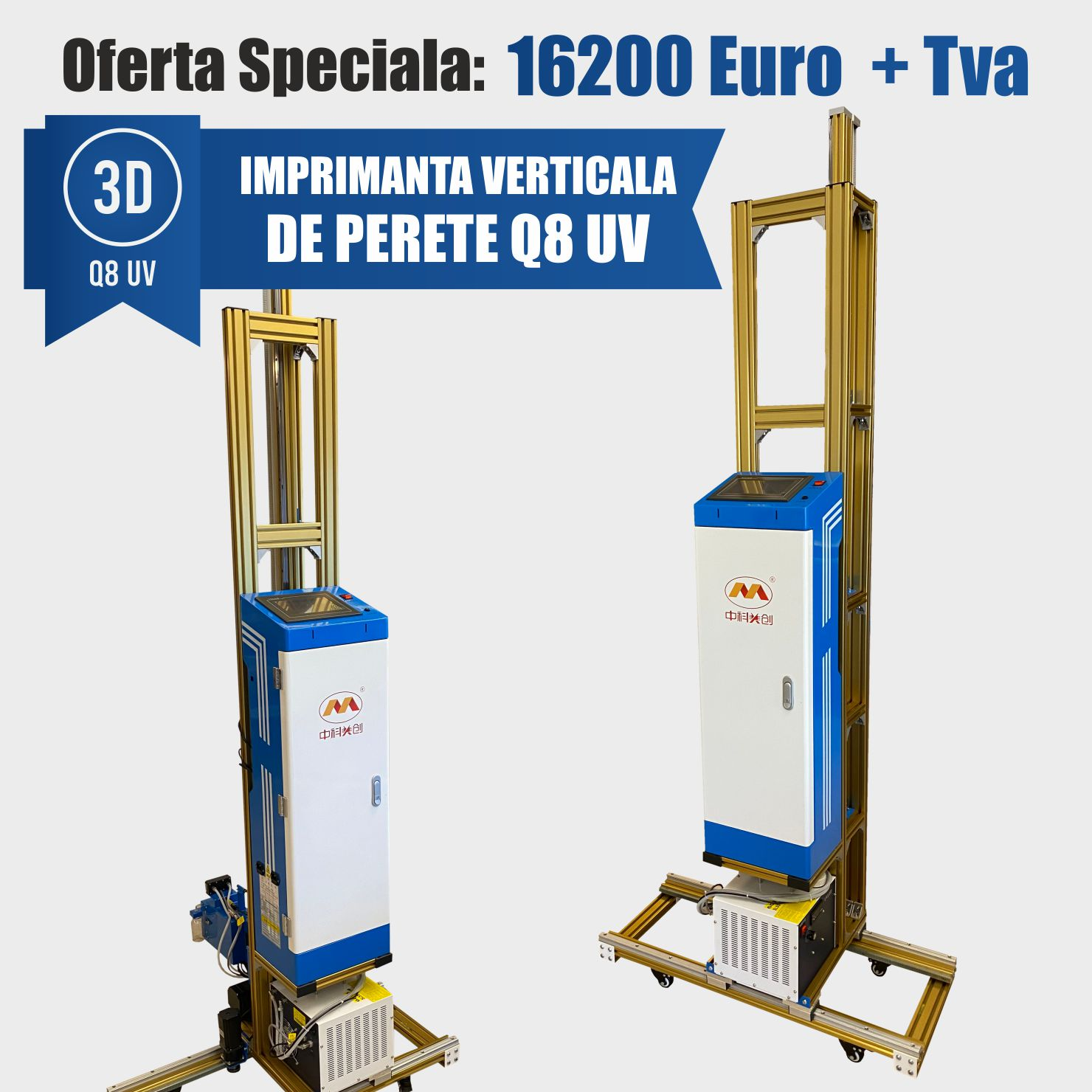 Imprimanta de perete 3d Q8 UV