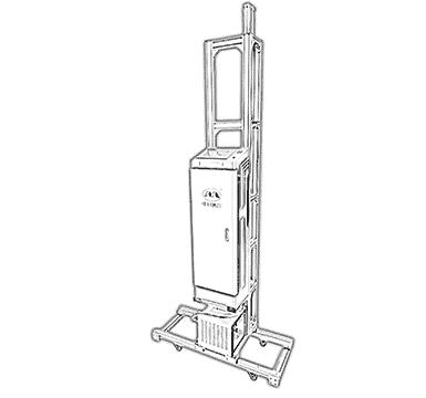 Imprimanta verticala de perete 3D Q8 uv