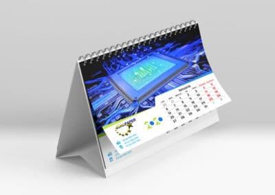 calendar de birou personalizat 12 file