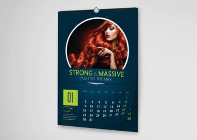 calendar de perete personalizat 12 file