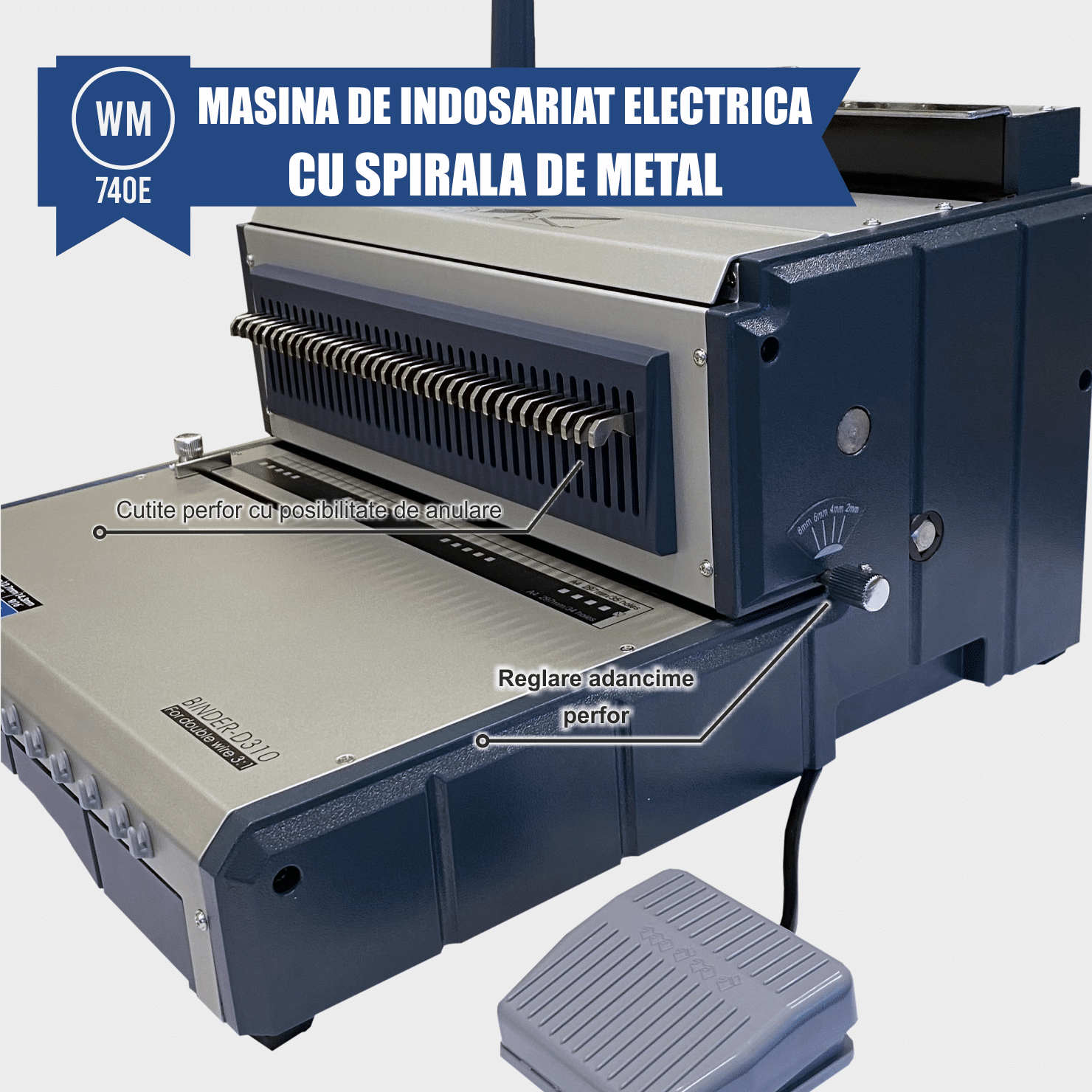 masina de indosariat spirala metalica wm-740e
