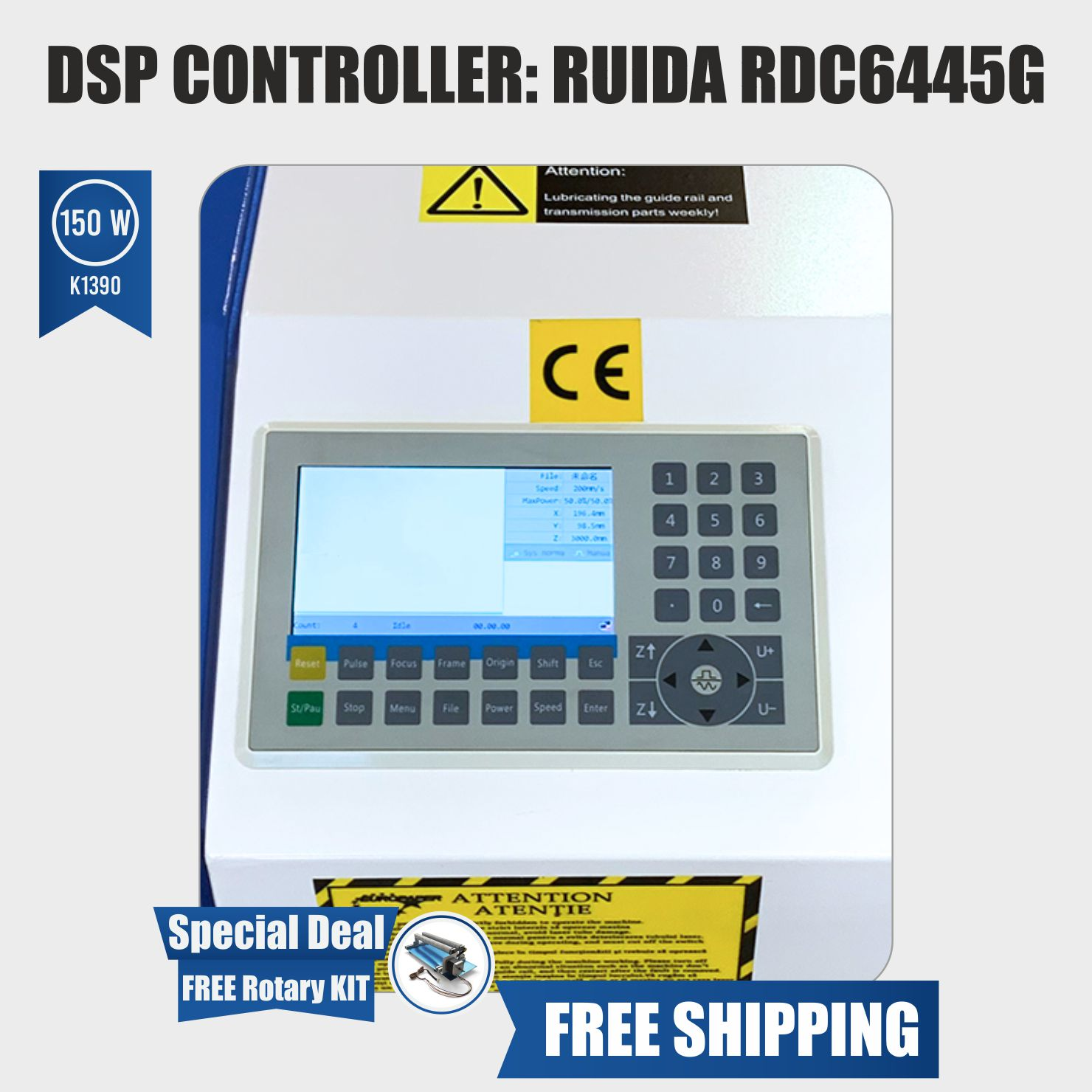 dsp controller ruida 150w laser