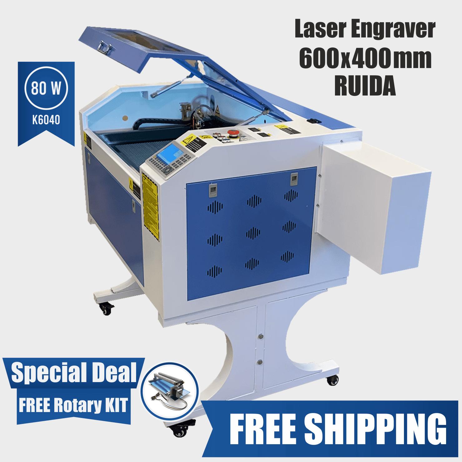 laser engraver 600 x 400 80w ruida