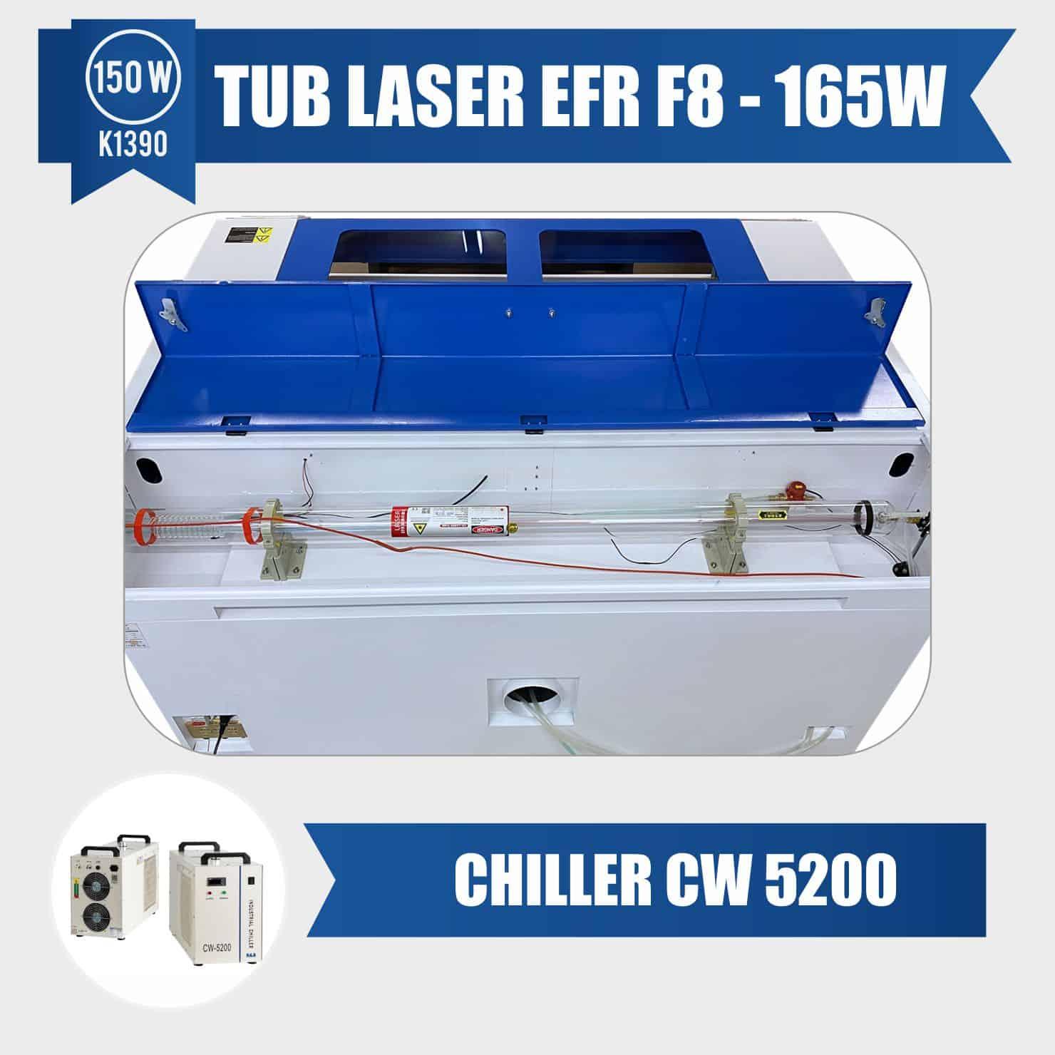 tub laser 150w efr f8